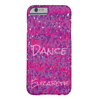 Dance Unique Pink Purple Abstract Barely There iPhone 6 Case