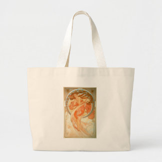 Dance - Vintage Art Nouveau - Alphonse Mucha Large Tote Bag