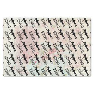 Dance - Vintage Ballerina Silhouette Pattern Tissue Paper