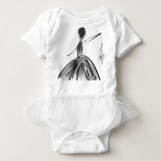 Dance with me Ballerina by Dorme Naberrie Baby Bodysuit