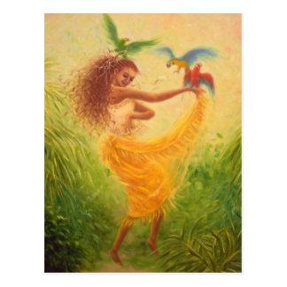 """""""Dance with Parrots"""" Postcard"""