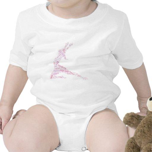 Dance Word Cloud Pink Baby Bodysuit