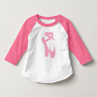 """Dance Your Face Off"" Ballet Shoes Toddler Shirt"
