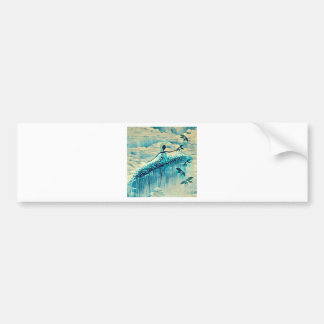 DANCER AND DRAGONFLIES 10 BUMPER STICKER