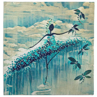 DANCER AND DRAGONFLIES 10 NAPKIN