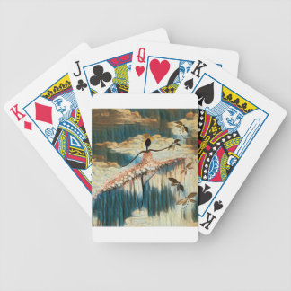 DANCER AND DRAGONFLIES 14 BICYCLE PLAYING CARDS
