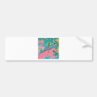 DANCER AND DRAGONFLIES 15 BUMPER STICKER