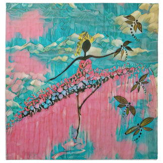 DANCER AND DRAGONFLIES 15 NAPKIN