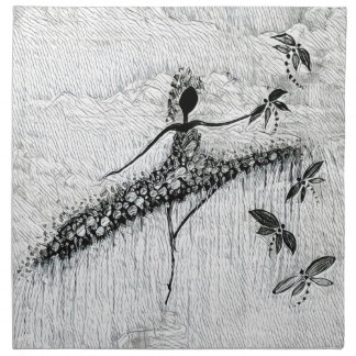 DANCER AND DRAGONFLIES 17 NAPKIN