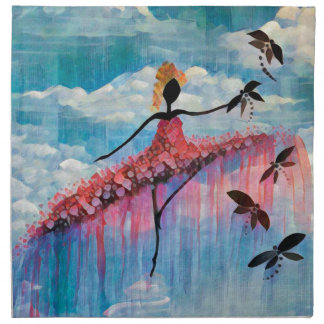 DANCER AND DRAGONFLIES 18 NAPKIN