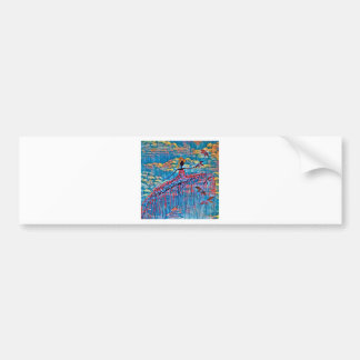 DANCER AND DRAGONFLIES 19 BUMPER STICKER