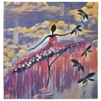 DANCER AND DRAGONFLIES 20 NAPKIN