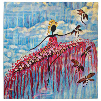DANCER AND DRAGONFLIES 22 NAPKIN