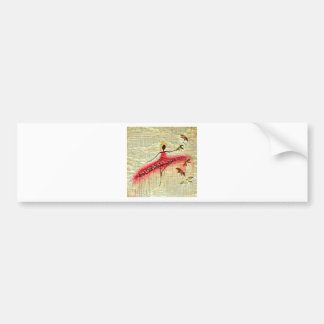 DANCER AND DRAGONFLIES 23 BUMPER STICKER