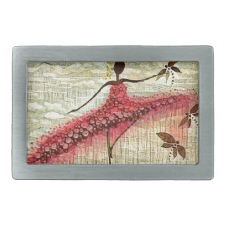 DANCER AND DRAGONFLIES 23 RECTANGULAR BELT BUCKLES