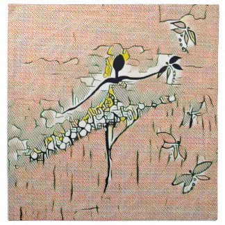 DANCER AND DRAGONFLIES 27 NAPKIN
