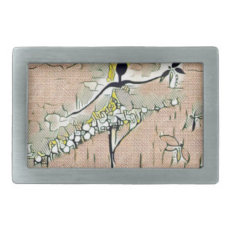 DANCER AND DRAGONFLIES 27 RECTANGULAR BELT BUCKLES