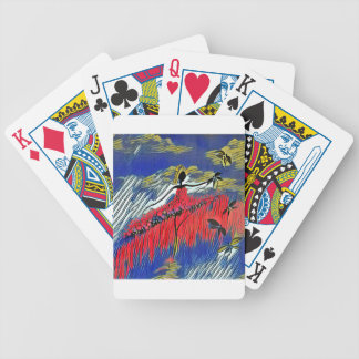 DANCER AND DRAGONFLIES 28 BICYCLE PLAYING CARDS