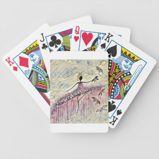 DANCER AND DRAGONFLIES 2 BICYCLE PLAYING CARDS