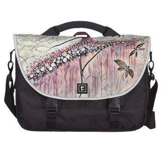 DANCER AND DRAGONFLIES 2 LAPTOP MESSENGER BAG