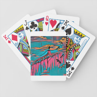 DANCER AND DRAGONFLIES 30 BICYCLE PLAYING CARDS