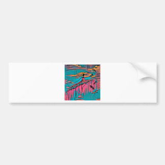 DANCER AND DRAGONFLIES 30 BUMPER STICKER