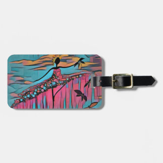 DANCER AND DRAGONFLIES 30 LUGGAGE TAG