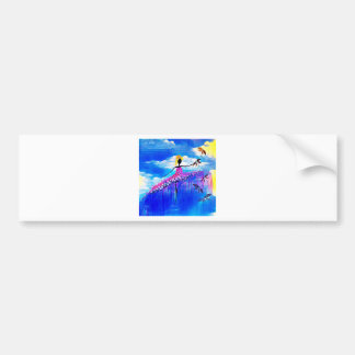 DANCER AND DRAGONFLIES 31 BUMPER STICKER