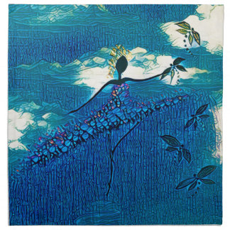 DANCER AND DRAGONFLIES 32 NAPKIN