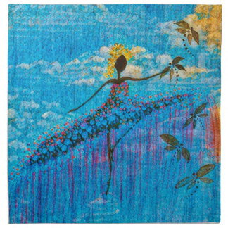 DANCER AND DRAGONFLIES 34 NAPKIN
