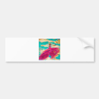 DANCER AND DRAGONFLIES 35 BUMPER STICKER