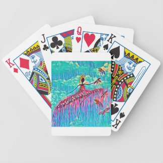 DANCER AND DRAGONFLIES 3 BICYCLE PLAYING CARDS