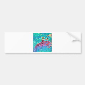 DANCER AND DRAGONFLIES 3 BUMPER STICKER