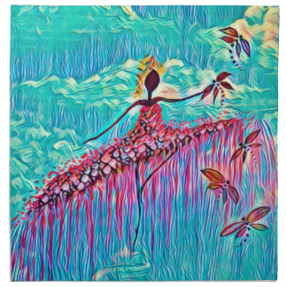DANCER AND DRAGONFLIES 3 NAPKIN