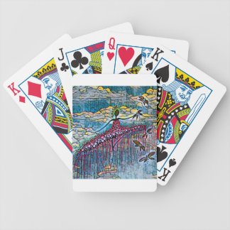 DANCER AND DRAGONFLIES 4 BICYCLE PLAYING CARDS