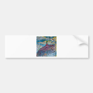DANCER AND DRAGONFLIES 4 BUMPER STICKER
