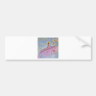 DANCER AND DRAGONFLIES 5 BUMPER STICKER