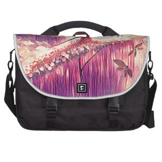 DANCER AND DRAGONFLIES 6 LAPTOP MESSENGER BAG