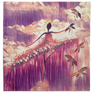DANCER AND DRAGONFLIES 6 NAPKIN
