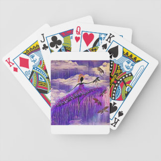 DANCER AND DRAGONFLIES 7 BICYCLE PLAYING CARDS