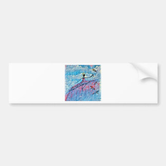 DANCER AND DRAGONFLIES 8 BUMPER STICKER