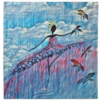DANCER AND DRAGONFLIES 8 NAPKIN