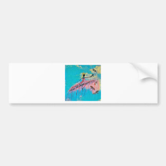 DANCER AND DRAGONFLIES 9 BUMPER STICKER