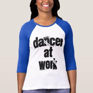 Dancer at Work BabyBlue/ White 3/4 Sleeve T-Shirt