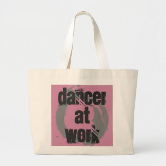 Dancer at Work White/Pink/Grey Jumbo Grocery Bag