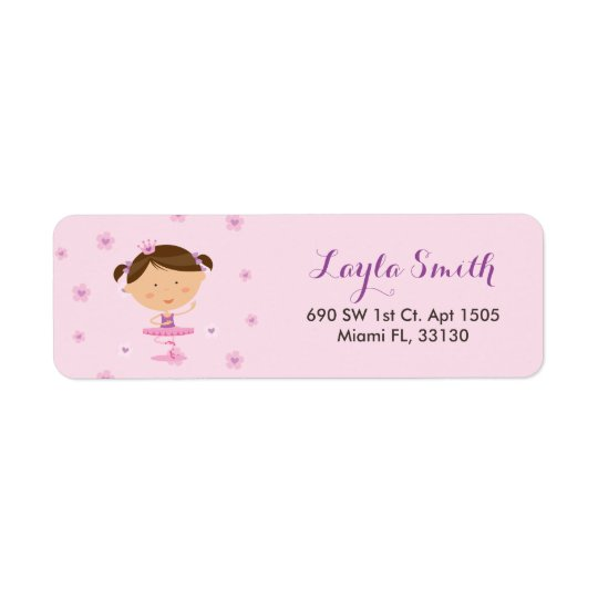 Dancer Ballerina Girl Return Address Labels