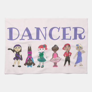 DANCER Ballet Tap Jazz Hip Hop Lyrical Teacher Tea Towel