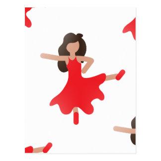 dancer emoji postcard