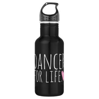 Dancer For Life Black with Heart 532 Ml Water Bottle