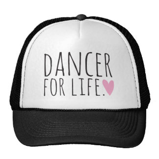 Dancer For Life Black with Heart Cap